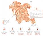 충남연구원과 충남소방본부가 2011년부터 5년간 충남 화재사고 발생을 분석했다. 사진은 충남정책지도 제 12호-충남도내 2011-2015년 지역별 화재사고 발생분포