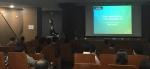 민트병원 혈관인터벤션센터 배재익 원장이 IGET2017 연례미팅에서 대퇴동맥의 혈관성형술에 대해 강의하고 있다