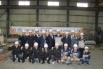 지엠아이그룹이 5일 수륙양용자동차 양산을 위한 강재 절단식을 가졌다