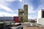 랑세스가 실시한 설문조사 결과에 따르면 컬러 콘크리트가 차가운 도시 건축물의 이미지를 개선하는 데 긍정적인 영향을 미치는 것으로 나타났다. 사진은 컬러콘크리트 적용 사례 콜롬비아 자유의 광장