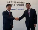 삼성전자와 한국전력공사는 스마트가전을 활용해 소비자들의 전기요금 부담을 줄이는 에너지 피크 관리 시범사업을 위한 에너지 IoT 사업 협력 양해각서를 27일 경기도 수원에 위치한 삼성 이노베이션 뮤지엄에서 체결한다