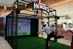 롯데몰 은평점에 설치된 클라우드게이트 스크린 스포츠 체험존