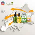아미코스메틱이 소유한 자연주의 화장품 브랜드 퓨어힐스가 28개 품목에 대한 유럽 인증을 완료하고 유럽 진출에 박차를 가한다