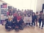 장애인먼저실천광주운동본부가 13일 광주지역의 장애인과 비장애인을 대상으로 옆자리를 드립니다를 실시하였다
