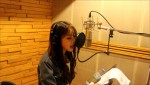 걸그룹 나인뮤지스의 경리가 17일 정오 프로젝트 솔로 음원 발매를 앞두고 녹음실 인증샷을 공개했다