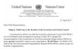 국제구호 NGO 월드쉐어가 유엔 경제사회이사회 특별협의지위를 획득했다