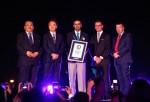두바이 페스티벌 시티가 인터컨티넨탈과 파나소닉 및 '이매진'의 신작 쇼 '한 어린이의 꿈' 공개 발표에서 기네스 세계기록을 인증 받았으며 소에지마 히로키 PMMAF 상무이사가 개막식에 참석했다