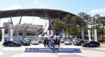 현대자동차가 이광국 부사장과 국제축구연맹 2017 피파 20세 월드컵 조직위원회 곽영진 부위원장 등 관계자 10여 명이 참석한 가운데 수원월드컵경기장 중앙광장에서 FIFA U-20 월드컵의 공식 차량 전달식을 진행했다