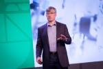 블레이크 모렛 로크웰 오토메이션 사장 겸 CEO가 어떻게 사물 인터넷이 산업생산성에 영향을 주는지 런던에서 개최된 시스코의 IoT 월드포럼에서 설명하고 있다.