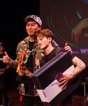 SNRD가 비보이 월드 챔피언십 코리아를 7일 개최했다. 좌 SNRD 배정현 대표, 우 비보이 월드 챔피언십 코리아 우승자 엠비크루의 주트