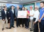서울시립북부장애인종합복지관이 행복나눔 기금 전달식을 진행하고 있다