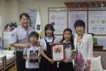 경인교대부설초교 학생들이 희망사과나무 사랑의 동전 모으기 캠페인에 동참해 모금액을 전달했다