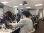 MDS테크놀로지의 NeoIDM이 테스트에 참가한 기업 중 최우수 평가를 받았다. 사진은 5월 미국 피츠버그에서 개최된 OMA TestFest 서버 부문 상호운용성 테스트 현장