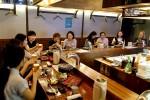 11일 혼자서 완전하게 출간 기념 혼고기 파티가 서촌 히바치광에서 열렸다