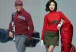 그린조이 전속모델 야노시호와 추성훈이 2017 F/W 시즌을 겨냥해 제품을 선보이고 있다