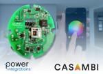 파워 인테그레이션스와  Casambi Technologies가 색상 조정이 가능한 스마트 조명 레퍼런스 디자인을 발표했다