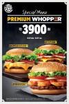 버거킹이 프리미엄 와퍼 3종을 7일 간 할인 판매한다