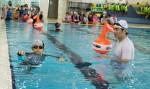 국립중앙청소년수련원이 수상사고 발생 시 대처능력 향상을 위하여 천안 성남초 3~6학년 학생 30여명을 대상으로 생존수영프로그램을 진행하였다