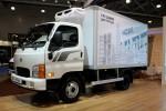 현대자동차가 4일 러시아 모스크바에서 열린 2017 모스크바 국제상용차 전시회에서 수출 전략형 중소형 트럭 HD36L을 세계 최초로 공개했다