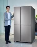 삼성전자가 수납 편리성 높인 5도어 냉장고 H9000을 출시했다