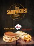 던킨도너츠가 치킨머쉬룸 플랫브레드, 맥앤비프 랩샌드위치 등 핫 샌드위치 2종을 새롭게 출시한다