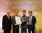 SK텔레콤의 스마트로봇 코딩스쿨이 ITU 2017 어워드서 글로벌 기업상을 수상했다