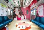 11월 25일까지 비바이바닐라가 지하철 2호선 내부에 비바이바닐라 화보 컨셉으로 랩핑 광고를 진행한다