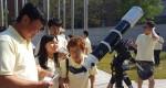 국립중앙청소년수련원 2017년 취약계층청소년캠프에 참가한 청소년이 천체망원경을 이용하여 태양관측 프로그램을 하고 있다