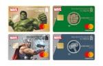 SC제일은행은 마블 캐릭터 토르와 헐크를 모델로 디자인한 체크카드와 통장을 출시했다