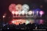 第13回釜山花火祭りが10月28日午後2~9時、釜山の広安里(クァンアルリ)海水浴場を中心に開かれる. 写真は2016釜山花火祭り.