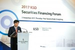 한국예탁결제원이 11월 2일 저녁 홍콩 소재 포시즌 호텔 하버뷰 볼룸에서 2017 KSD 증권파이낸싱 포럼을 개최했다