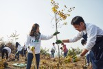 아이오닉 포레스트 나무 심기 행사에서 참가자들이 나무를 심고 있다