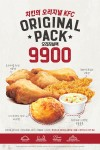 KFC가 9일부터 16일까지 오리지널 치킨 등 시그니쳐 메뉴로 구성된 오리지널팩을 선보인다