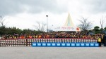 인천대교 임직원들이 영종도 사옥에서 사랑의 김장머플러 나눔 행사를 가졌다