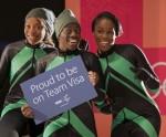 나이지리아 여자 봅슬레이 팀이 2018평창동계올림픽 참가를 위해 팀 비자에 합류했다(사진 좌에서 우로 은고지 오누메레, 세운 아디군, 아쿠오마 오메오가