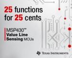 TI가 가장 저렴한 가격대의 센서 애플리케이션용 초저전력 MSP430™ 마이크로컨트롤러를 출시한다