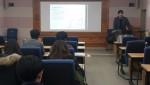 브릿지협동조합 강영덕 이사가 보조사업 정산안내 강의를 진행하고 있다