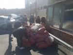 동명대 지방대학특성화사업단 중 BIM건축사업단 재학생 15명이 1일 포항 지진피해현장에서 피해현장 복구 봉사활동을 실시했다