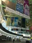 문화체육관광부가 올림픽 개최지 케이티엑스 강릉역사에서 국민들의 응원메시지가 담긴 아트배너를 전시한다