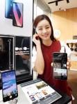 LG전자가 오디오 명가 뱅앤올룹슨 매장에 LG V30 체험존을 구성했다