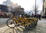 오포가 부산에서 공유 자전거 서비스를 시범 출시했다. 사진은 오포 비고정형 공유 자전거