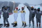 2018 평창 동계올림픽을 밝힐 성화가 30일 동계 스포츠를 즐기는 이들의 천국, 홍천을 밝혔다