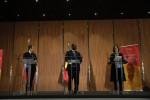 왼쪽부터 에마뉘엘 마크롱 프랑스 대통령, 마키 살 세네갈 대통령, 줄리아 길러드 GPE 이사회 의장(前 호주 총리)