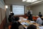 21일 사회적경제 기업을 대상으로 강의를 진행하고 있는 브릿지협동조합 배성기 이사장