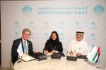 중동지역 최초의 태양광 수소 전기분해 시설 사업 개시를 위한 두바이 엑스포 2020과 지멘스의 MOU 서명 모습