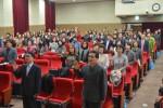 전국지역아동센터협의회 제16차 총회에 참석한 전병노 이사장, 외빈 및 대의원들이 지역아동센터 윤리강령 선언을 하고 있다