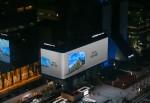 초대형 LED 사이니지를 통해 삼성전자 QLED TV 옥외 광고 콘텐츠가 상영되고 있다
