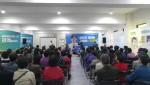 유창복 마포구청장 예비후보가 29일 선거사무소 개소식에서 인사말을 하고 있다