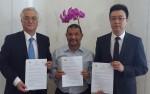좌로부터 AHGK 김근영 회장, 브루나이 종교부 장관이자 JH CEO인 Pengiran Alli bin Pengiran Hj Mohammad, 로커스체인 파운데이션 이상윤 대표