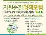 제5차 자원순환정책포럼 개최 안내 포스터